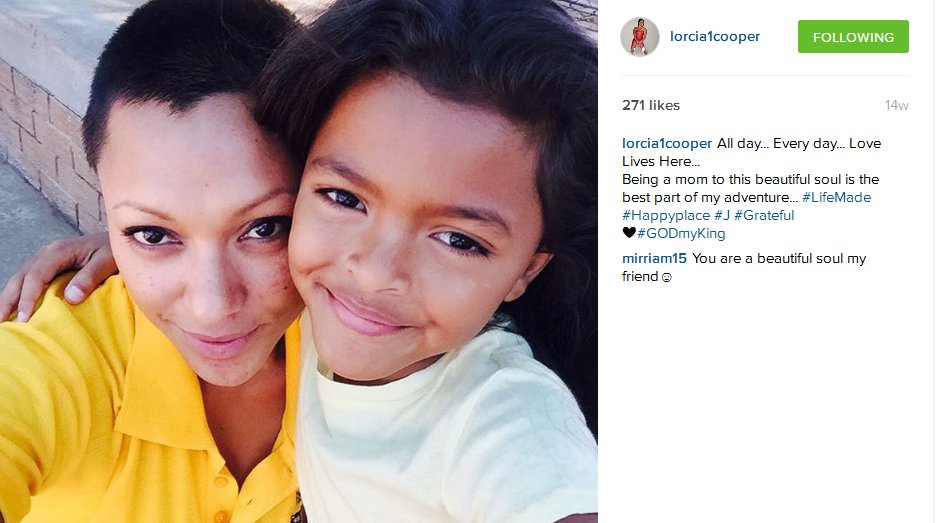 5 photos of lorcia cooper and her cute daughter we just