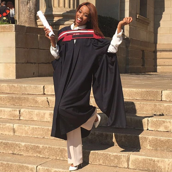 Picture Of The Day Miss Sa Graduates With An Honours