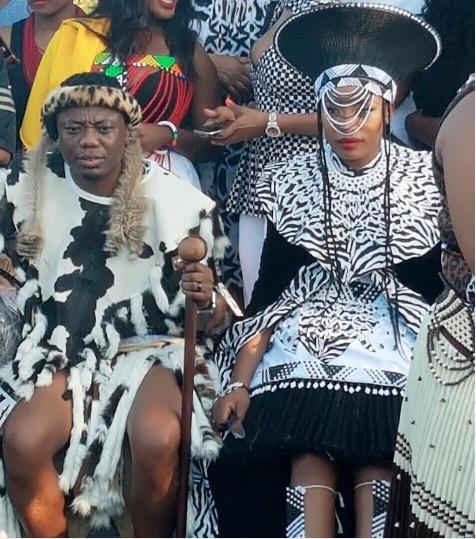 Celebrity zulu wedding