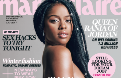 Top SA Celebs Pose For Charity In Marie Claire Magazine's 2017 'Naked' issue