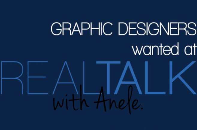 Graphic Designers Wanted At Real Talk With Anele Youth Village