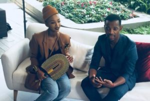 Nnadi and Zakes e1550065982492 300x202 - Pic: Nandi Madida Wearing Her Husband Zakes Bantwini's Clothing Line Is The Cutest Thing