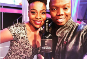 Touch and Thuli 300x203 - Tbo Touch Congratulates His Baby Mama Thuli Thabethe On He SAFTAs Nomination