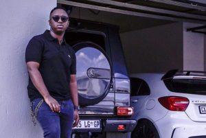 shimza car e1549358685374 300x201 - Shimza's Luxury Car Gets Stolen And Tweeps Advice Celebs To Stop Posting Their Assets On Social Media