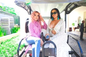 Bonang pinky 300x200 - Local Celebs Shower Bonang Matheba With Congratulatory Messages For Her Latest Project