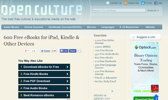 10 Sites To Download Free eBooks From – Youth Village