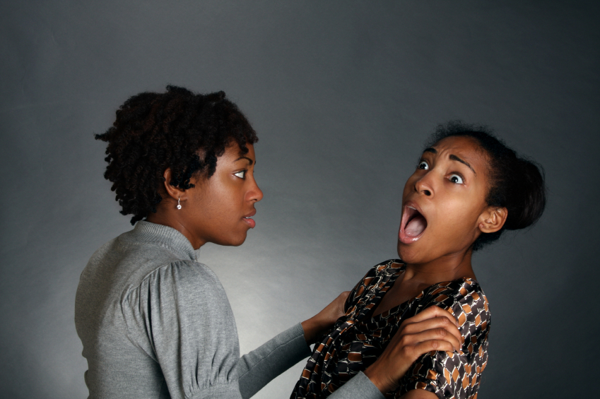 Image result for two black girlfriends arguing