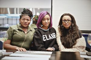 Busiswa and Zinhle 300x200 - Here Is How DJ Zinhle Touched Busiswa's Heart